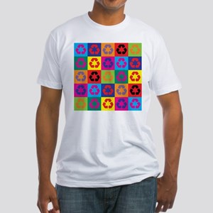 Pop Art Recycling Fitted T-Shirt