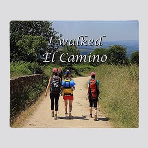 I walked El Camino, Spain Throw Blanket
