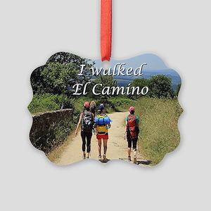 I walked El Camino, Spain Picture Ornament