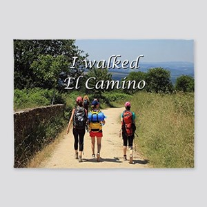 I walked El Camino, Spain 5'x7'Area Rug