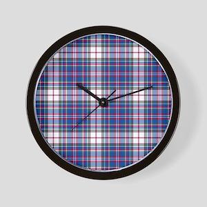 Tartan-MacFarlane dress Wall Clock
