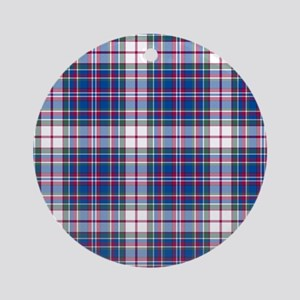 Tartan-MacFarlane dress Ornament (Round)