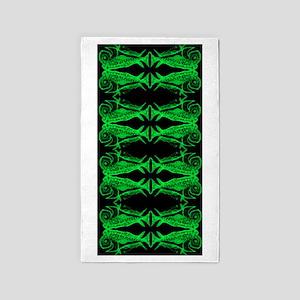 Retro Mahi Mahi Fish Pattern - Green. Fi Area Rug