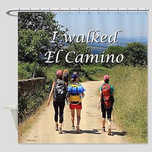 I walked El Camino, Spain Shower Curtain