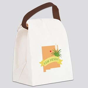 New Mexico State Outline Yucca Flower Canvas Lunch