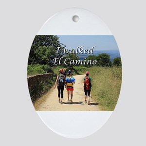 I walked El Camino, Spain Ornament (Oval)
