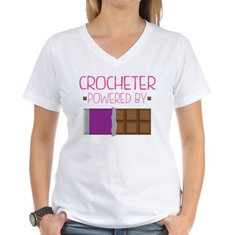 Crocheter Women's V-Neck T-Shirt