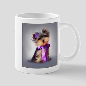 ByCatiaCho Yorkie Violet Mugs