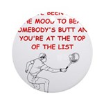 tennis joke Ornament (Round)