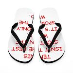 tennis joke Flip Flops