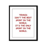 tennis joke Framed Panel Print