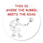 tennis joke Round Car Magnet