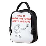 tennis joke Neoprene Lunch Bag