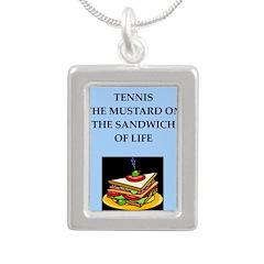 tennis joke Necklaces