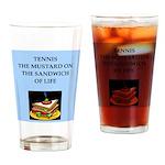 tennis joke Drinking Glass