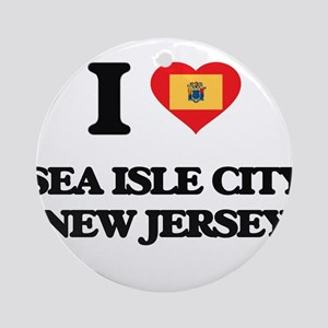 I love Sea Isle City New Jersey Ornament (Round)
