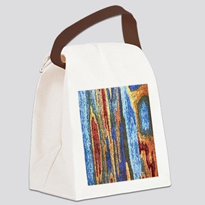 Abstract Dotted Image Canvas Lunch Bag