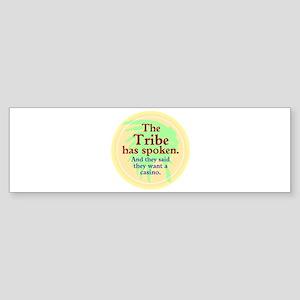 The Black Jack Injuns Bumper Sticker