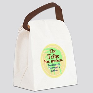 The Black Jack Injuns Canvas Lunch Bag