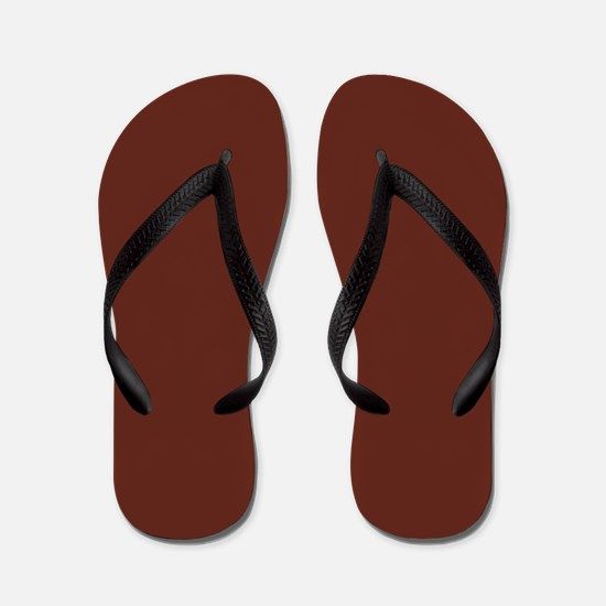 Solid Burnt Sienna Flip Flops