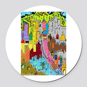 Vision Medellin Colombia Round Car Magnet