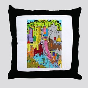 Vision Medellin Colombia Throw Pillow