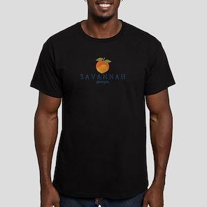 Sanannah - Georgia. Men's Fitted T-Shirt (dark
