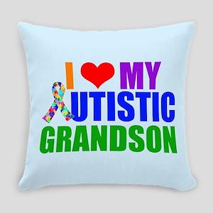Autistic Grandson Everyday Pillow