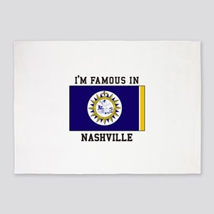 Famous In Nashville 5'x7'Area Rug