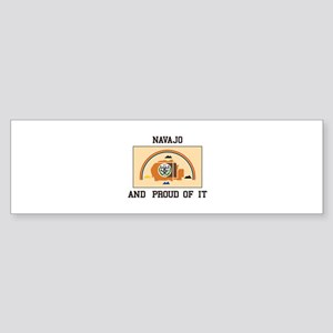 Navajo And Proud Bumper Sticker