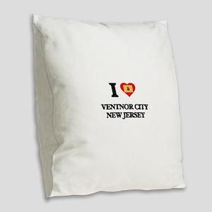 I love Ventnor City New Jersey Burlap Throw Pillow