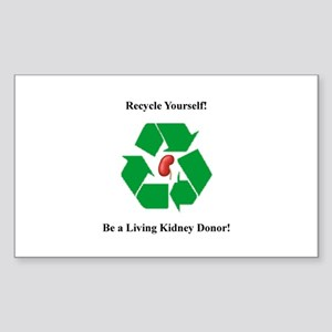 Living Organ Donor Rectangle Sticker