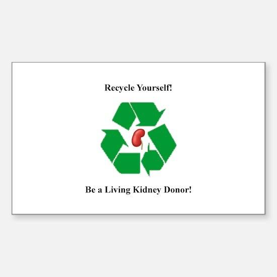 Living Organ Donor Rectangle Decal