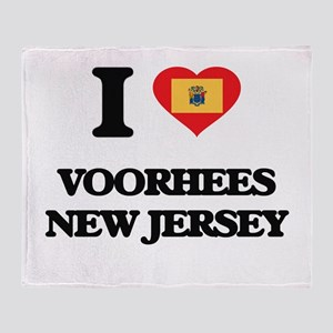 I love Voorhees New Jersey Throw Blanket