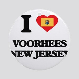 I love Voorhees New Jersey Ornament (Round)