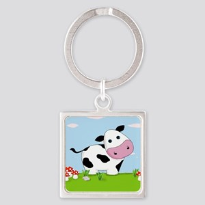 Cow in a Field Keychains