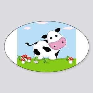 Cow in a Field Sticker