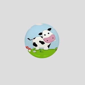 Cow in a Field Mini Button