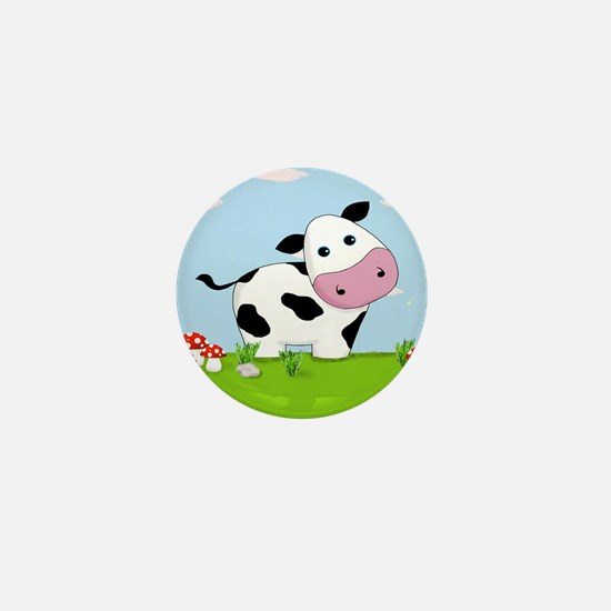 Cow in a Field Mini Button