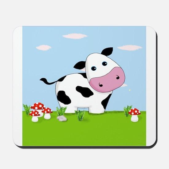 Cow in a Field Mousepad