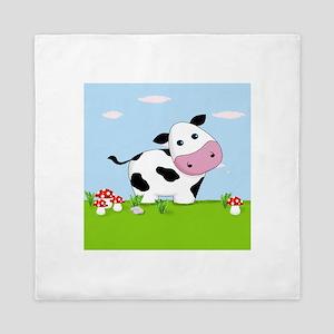 Cow in a Field Queen Duvet