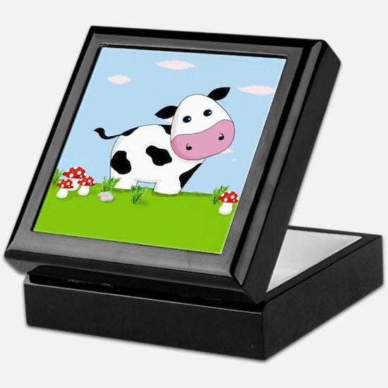 Cow in a Field Keepsake Box