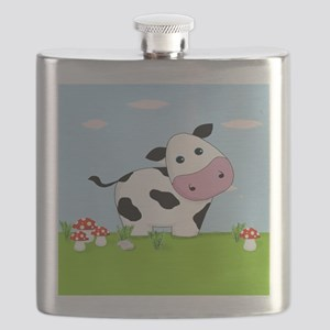 Cow in a Field Flask