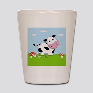 Cow in a Field Shot Glass
