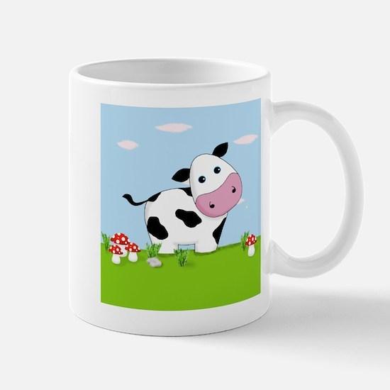 Cow in a Field Mugs