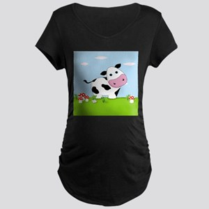 Cow in a Field Maternity T-Shirt