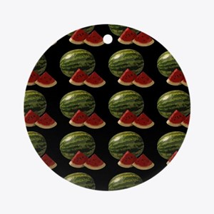 black watermelon Ornament (Round)