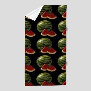 black watermelon Beach Towel