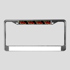 black watermelon License Plate Frame