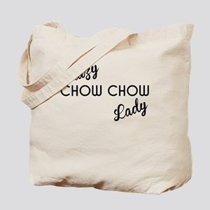 Crazy Chow Chow Lady Tote Bag